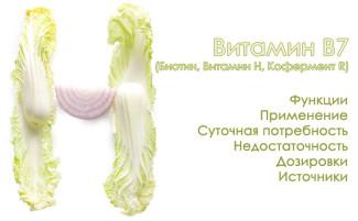 Витамин В7 (Биотин). Функции, источники и применение биотина